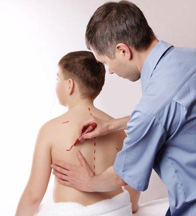 Обследование ребенка со сколиозом