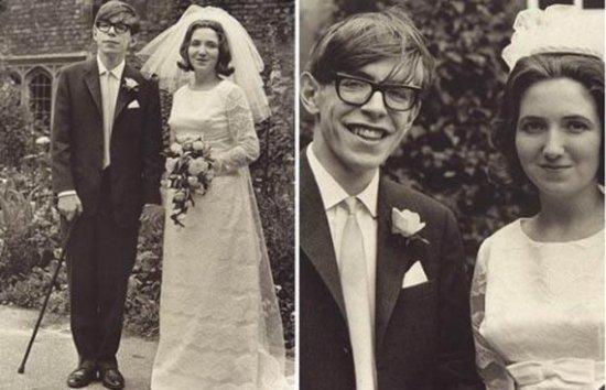 Стивен Хокинг с супругой