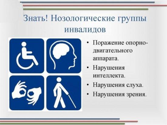 Нозологические группы инвалидности