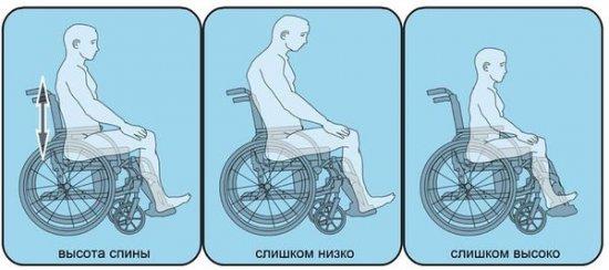 Выбор высоты спинки в инвалидной коляске